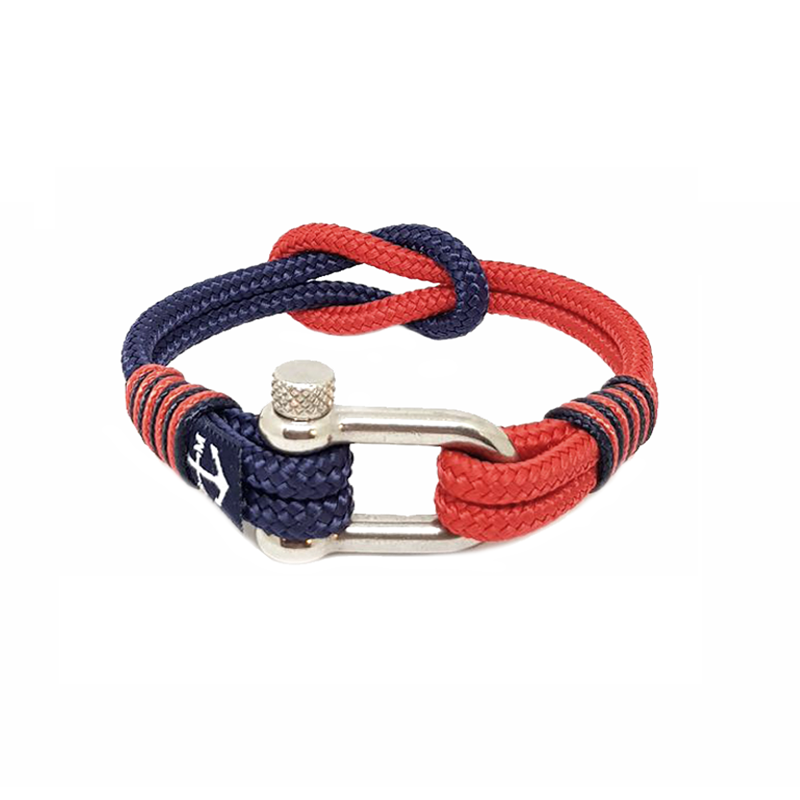 Blue and Red Nautical Bracelet by Bran Marion