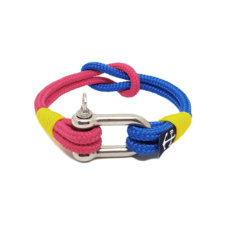 Blue and Red Shackle Nautical Anklet