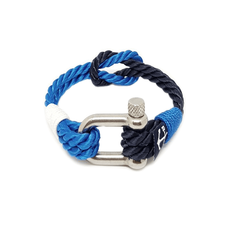 Twisted Blue Rope Nautical Bracelet