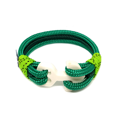 Green Wood Anchor Nautical Bracelet by Bran Marion
