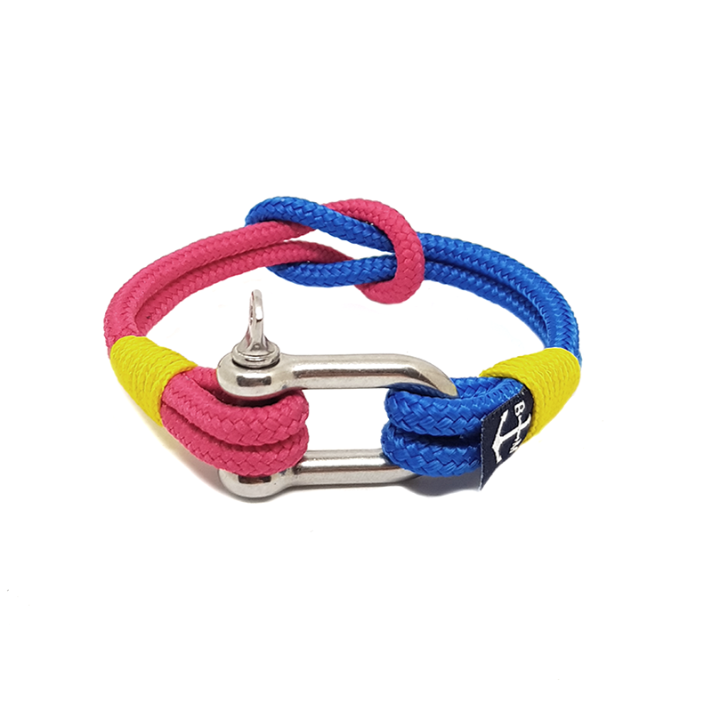 Blue and Red Shackle Nautical Bracelet by Bran Marion