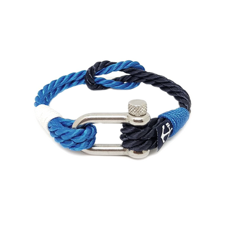 Twisted Blue Rope Nautical Bracelet by Bran Marion