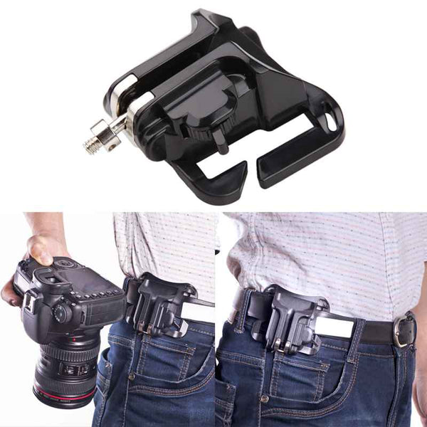 Fast Loading Holster, Quick Waist Belt Buckle, Mount Clip For Your Camera