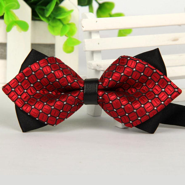 12cm*6cmBow tie For Men 2017 Fashion Men Bowtie Tie gravata borboleta Butterfly Bowtie Sharp Corner Cravats Accessories Bowknot