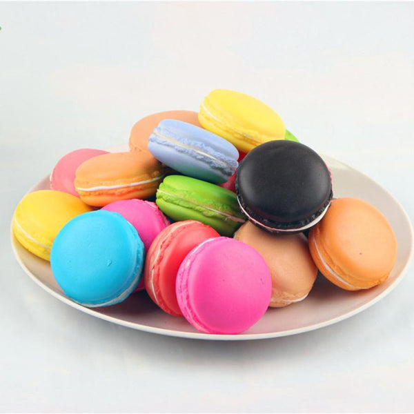 Simulation Macaron Food Squishy Super Slow Rising Kid Toy Decompression Toys for children kids