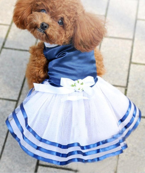 Pet Dog Puppy Tutu Dress Princess Stripe Bow Lace Skirt Clothes Apparel  t-shirts for dogs clothing   products for animals