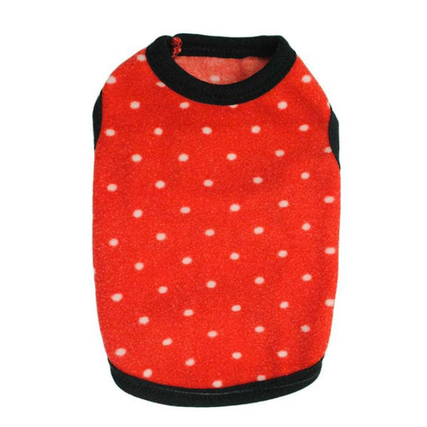 Super Deal wholesale pet products Hot Pet Puppy Dog Coat Apparel Clothes Costumes Fleece Printed Point Cute Clothing for Dogs XT