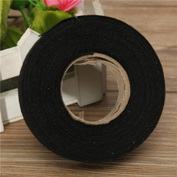 Newest 19mmx 15M Hot Adhesive Cloth Fabric Tape Cable Looms Wiring Harness For Car Auto