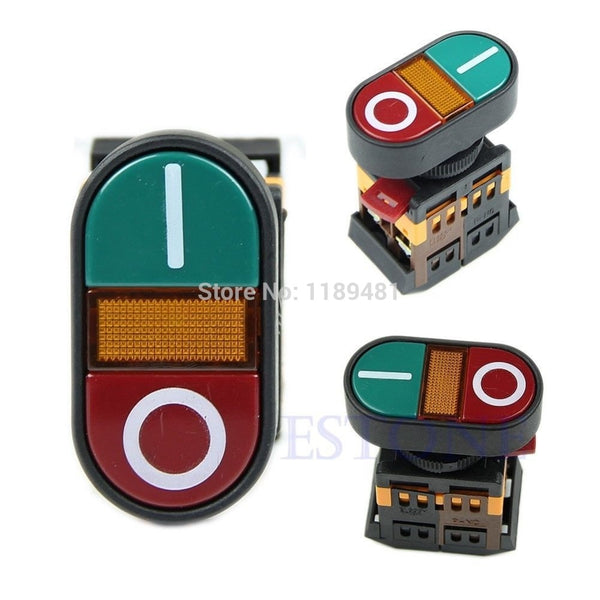 OOTDTY Red Green Light Indicator Momentary Switch Power Start Stop ON OFF Push Button