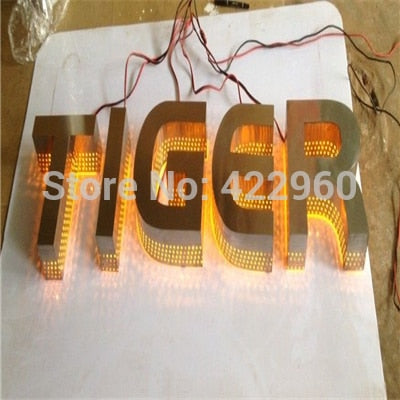 Factory Outlet laser cutting back lit & Side lit company logo, Customized company signs