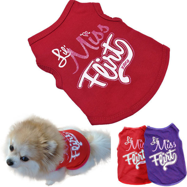 New Dog  Clothes T-Shirts Vest Summer Apparel  products for animals tactical vest coats