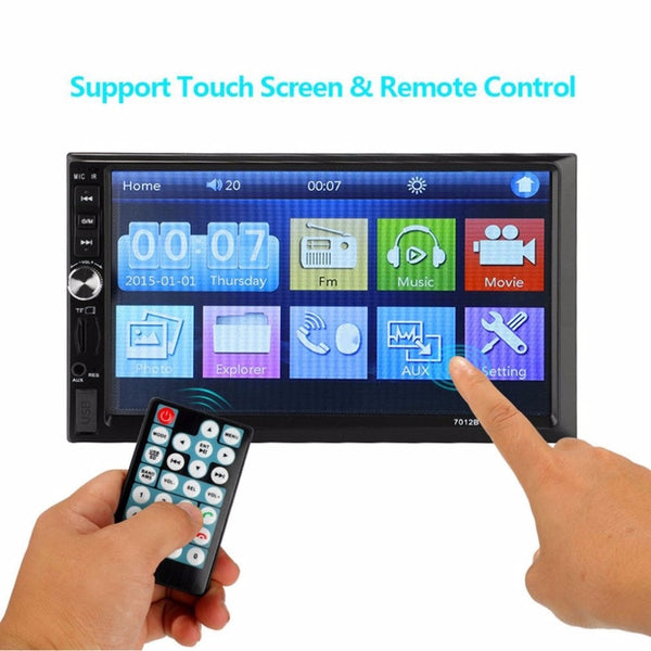 Professional 7 inch HD Screen 2DIN Automobile MP5 Player Touch Screen Stereo Radio Rear Camera Parking Helper for Car Drop Ship