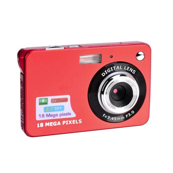 Digital Camera HD TFT LCD Display 18MP 720P 8x Zoom Anti-Shake Camcorder CMOS 2.7 Inch Micro Camera Video Perfect Gift Drop Ship