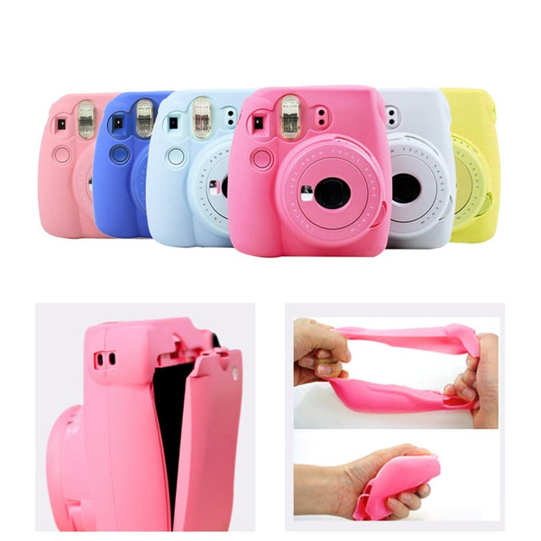 Soft Camera Bag Skin Protective Shell Bags Camera Cases for Polaroid Fujifilm Instax Mini 8/8+ Carrying Storage Cover Bag Photo