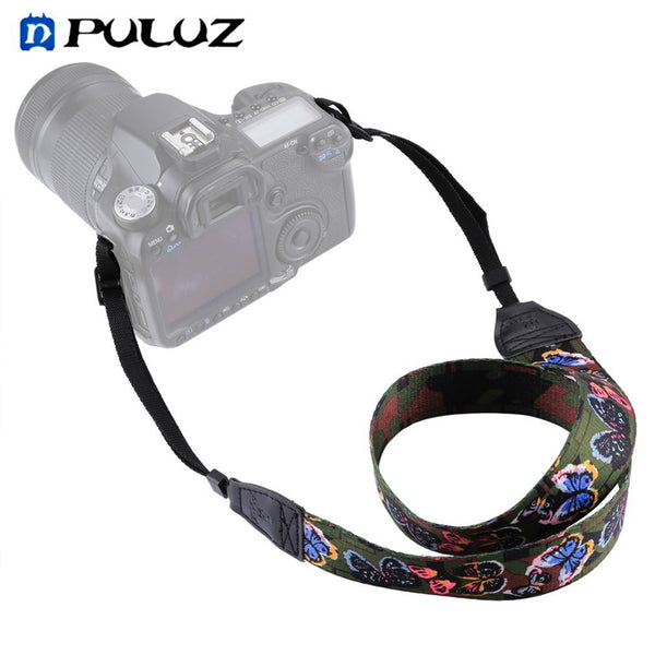 PULUZ Floral Printed Camera Neck Shoulder Camera Strap Belt for DSLR Cameras