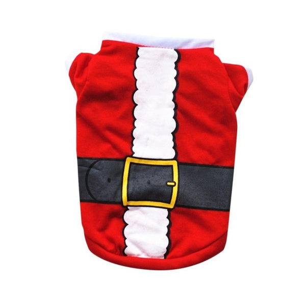 Cute XS/S/M/L Pet Dog Clothes Christmas Costume  Cartoon Clothes For Puppy Cloth Costume Dress Xmas apparel for Kitty Dogs