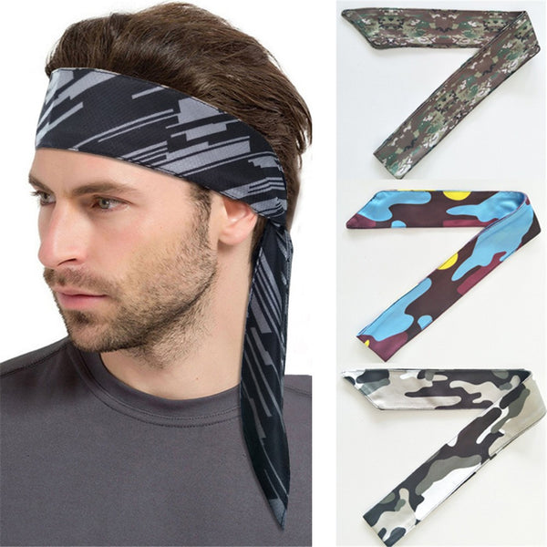 Hair Head Band Sweatband Headband Stretch Mens Wrap Elastic Sports Men Thin Gym