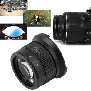 Hot Selling! 0.35X58MM Camera Super HD Wide Angle Fisheye Lens With Macro for Canon EOS Drop shipping