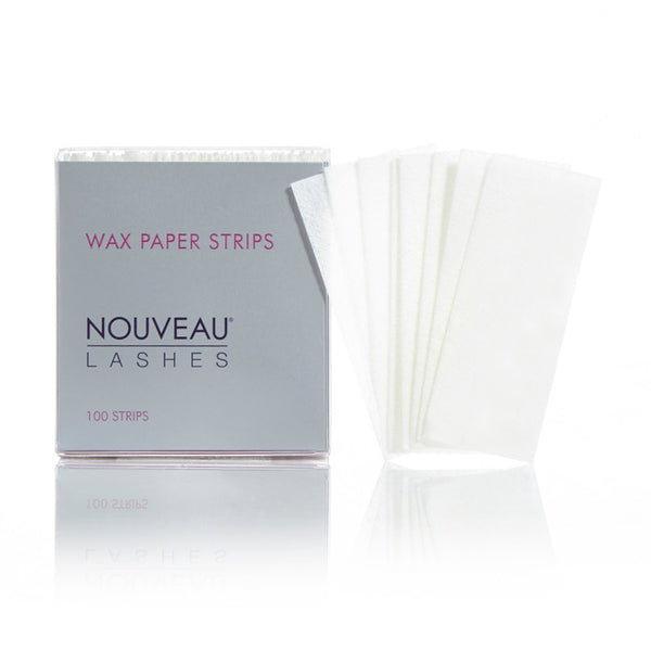 Wax Paper Strips (100) - Nouveau Lashes USA