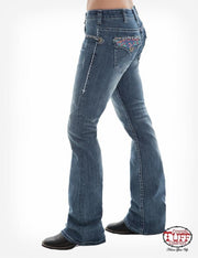 Cowgirl Tuff Ladies Southwest Queen Natural Waist Jeans