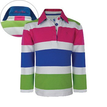 Thomas Cook Girls Moreton Stripe Rugby L/S Pullover