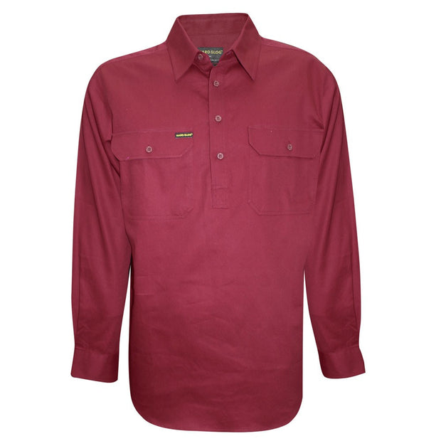 Hardslog Mens Half Placket Light Cotton Shirt
