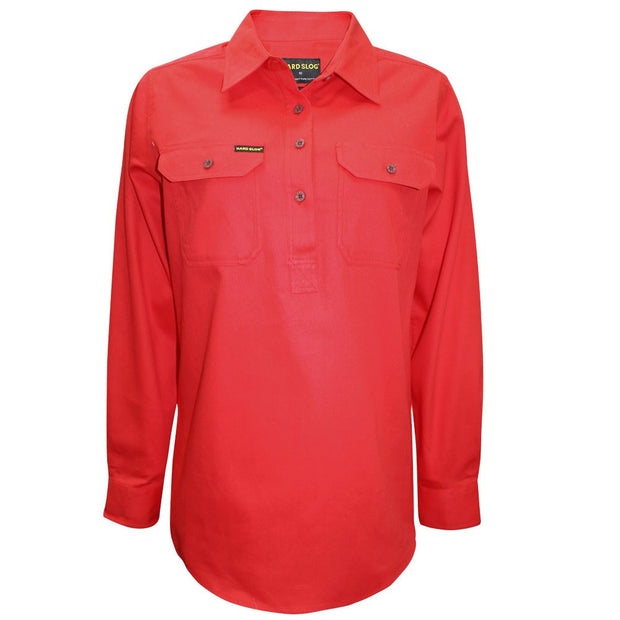 Hard Slog Women's Half Placket L/S Shirt