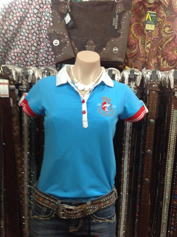 Giddy Up Ladies Polo S/S