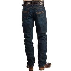 Cinch Mens Silver Label Slim Fit Dark Wash Jeans