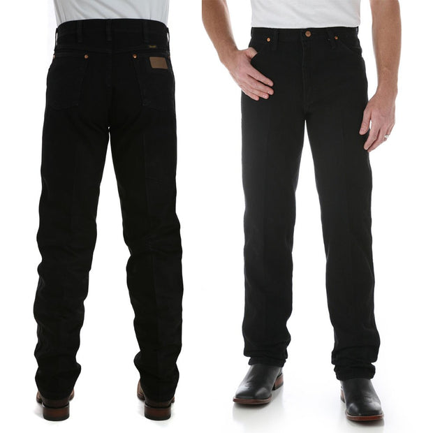Wrangler Original Fit Black Jeans