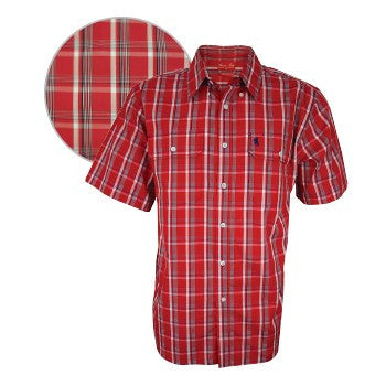 Mens Steve Check 2-Pkt S/S Shirt
