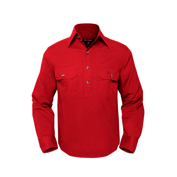 Brumby Workshirt - Red
