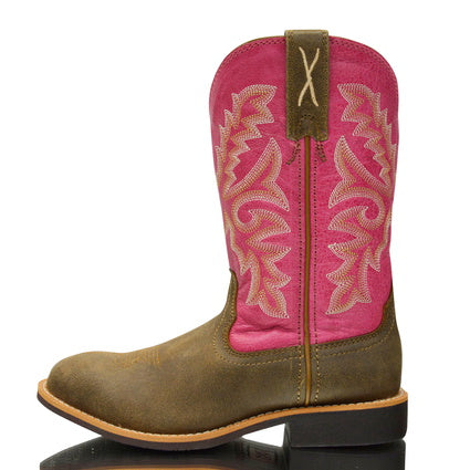 Twisted X CowKids Tophand Boots (Bomber/Pink) - ON SALE
