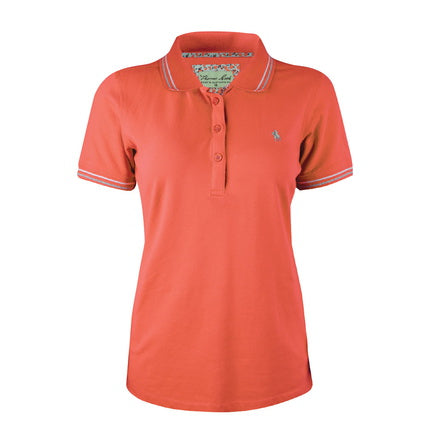 Thomas Cook Womens Heritage S/S Polo- Hot Poppy