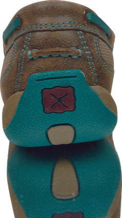 Twisted X Womens Casual Driving Mocs Boat Slip On - Bomber/Turquoise - ON SALE