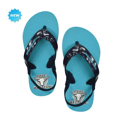 Pure Western Cody Toddler Blue Thongs