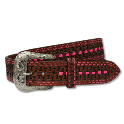 Twisted X Cognac/Pink Belt