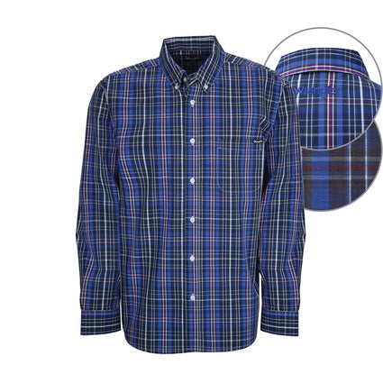 Wrangler Mens Scott Checked L/S Shirt