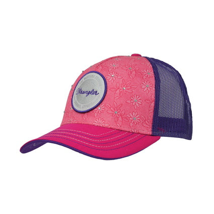 Wrangler Girls Emma Trucker Cap- Fuschia