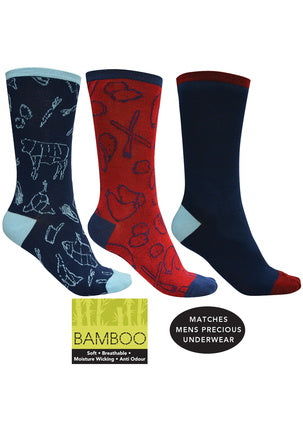 Thomas Cook Bamboo Socks - 3 Pack Mens