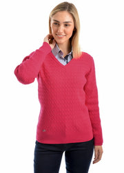 Thomas Cook Woman's V-Neck Finecable Jumper