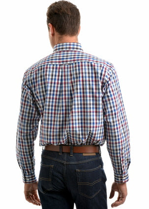 Thomas Cook Mens Mitchell Check 2Pkt L/S Shirt