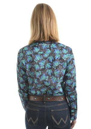 Women's Juni Print Long Sleeve Shirt