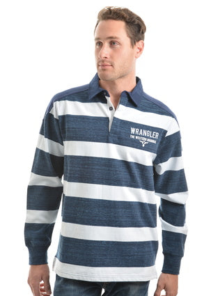 Wrangler Mens Mitchell Stripe Rugby