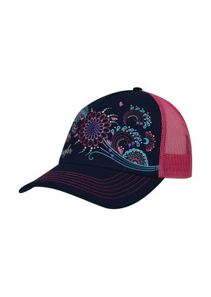 Wrangler Girls Leslie Trucker Cap- Navy/ Fuschia