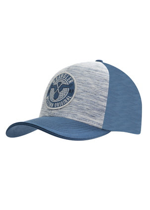 Wrangler Mens Dustin Cap - White Melange/Dark Blue