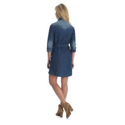 Wrangler Ladies Denim L/S Dress