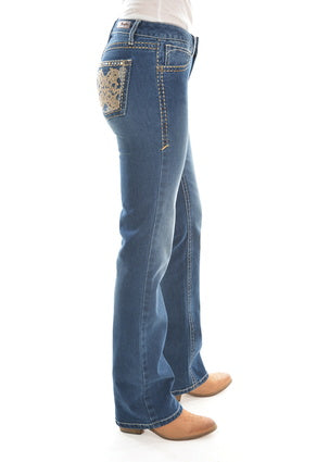 Wrangler Rock 47 Ladies sit above the Hip Jean 34 leg