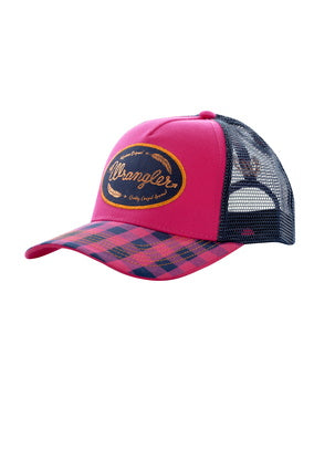 Wrangler Ladies Tracey Cap- Fuschia/ Navy