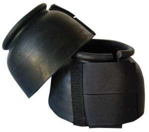 Top Hand Saddlery Black Bell Boots Double Velcro